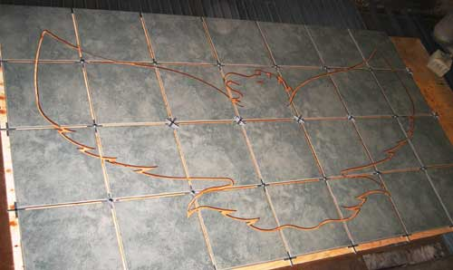 Osprey Custom Metal Fabrication - Custom cut ceramic tile